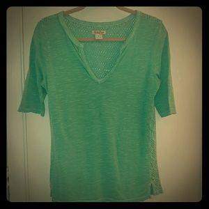 Aqua Green Shirt with Mid Sleeves